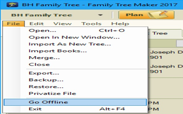 Performance issue in Family Tree Maker offline