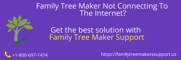 family tree maker not connecting