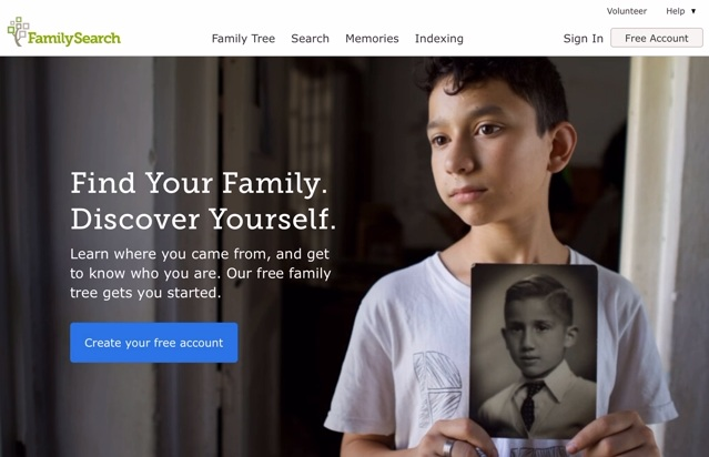 FamilySearch Login page