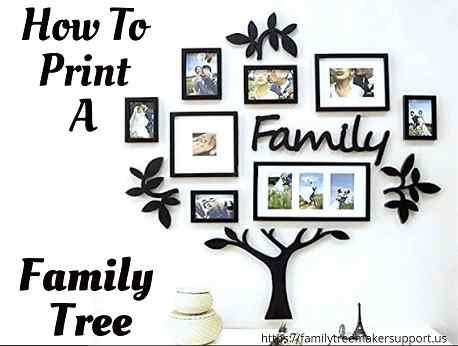 print a family tree
