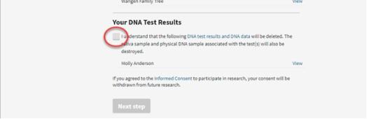 dna test result